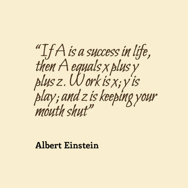 Albert Einstein Quote About Success In Life Awesome Quotes About Life