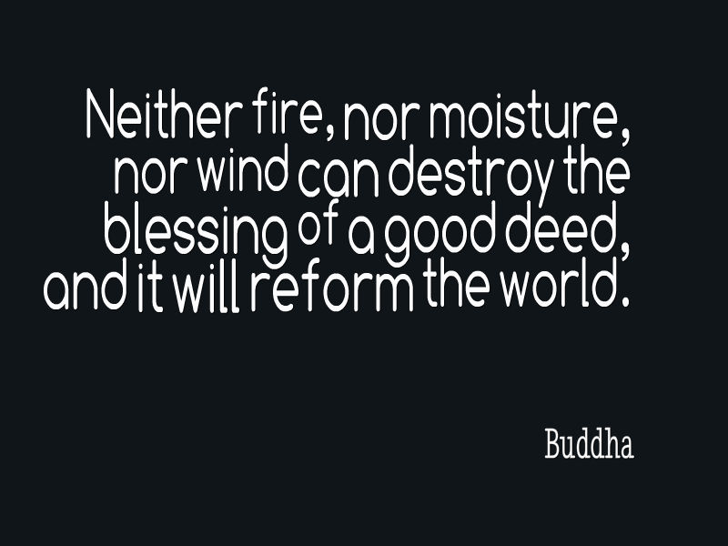 Buddha Quote About Good Deeds