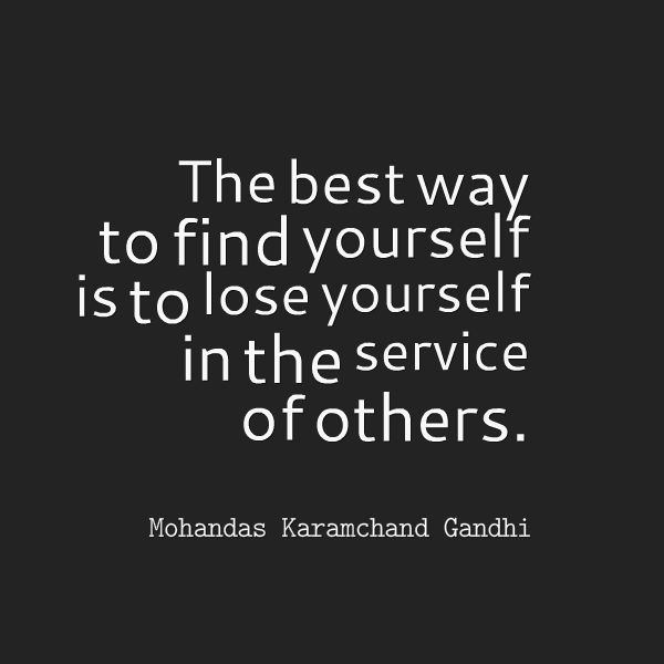 Mohandas Karamchand Gandhi Quote About Finding Yourself Awesome