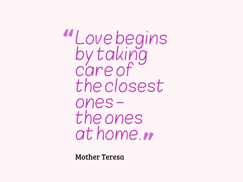 Post Navigation. Published InMother Teresa Quote About Love