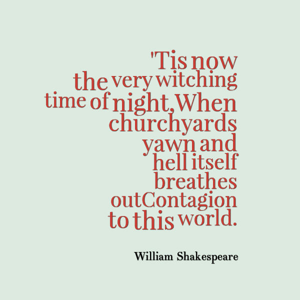 William Shakespeare Quote About Halloween - Awesome Quotes About Life