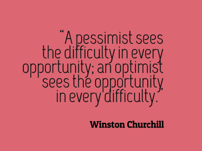 Optimism Quotes | Winston Churchill Quote About Pessimism And Optimism Awesome