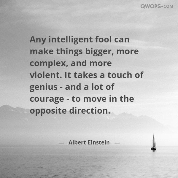 Albert Einstein Quote About Intelligence