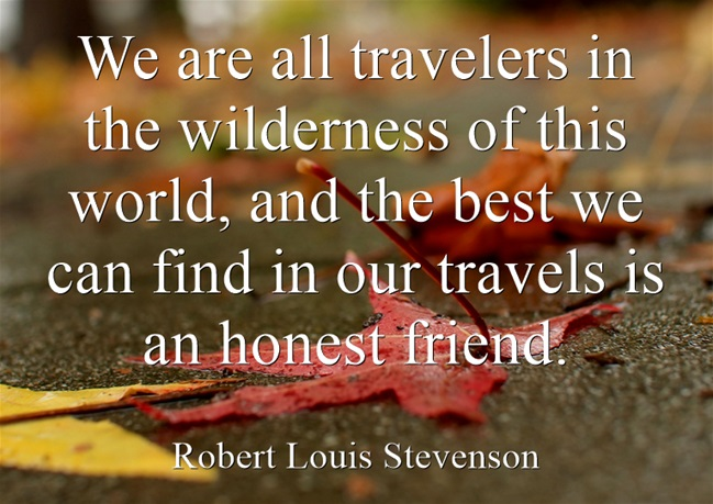 We are all travelers in the wilderness of this world, and the best we can find in our travels is an honest friend