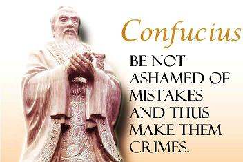 be not ashamed of mistakes and this make them crimes