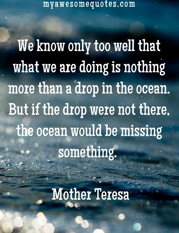 Post Navigation. Published InMother Teresa Quote About Lifeu0027s Purpose