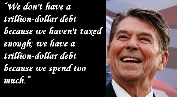 We don't have a trillion dollar debt because we haven't taxed enough; we have a trillion-dollar debt because we spend too much.